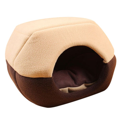 Foldable Soft Warm Winter Cat Dog Bed House Animal Puppy Cave Sleeping Mat Pad Nest Kennel Pet Supplies Hot Sale