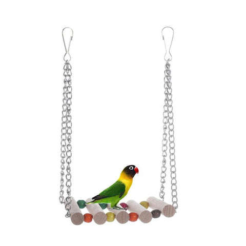Bird Toys Pet Bird Parrot Toys Hamster Parakeet Hammock Swing Hanging Bridge Chew Toys Birds Accessories Cage Supplies