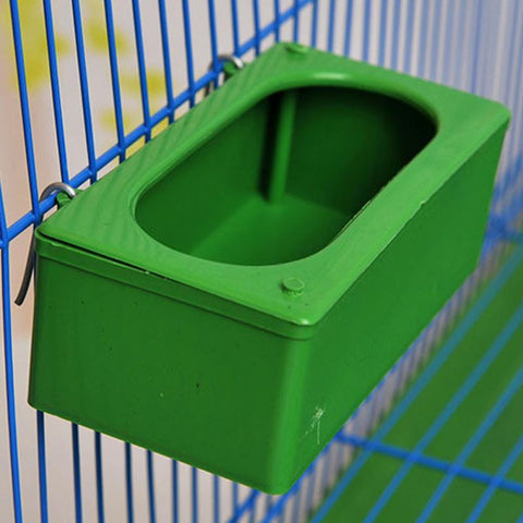 Pet Birds Hanging Feeding Trough Parrot Food Water Bowl Feeding Splash-proof Cup Plastic Bird Pigeons Cage Feeder