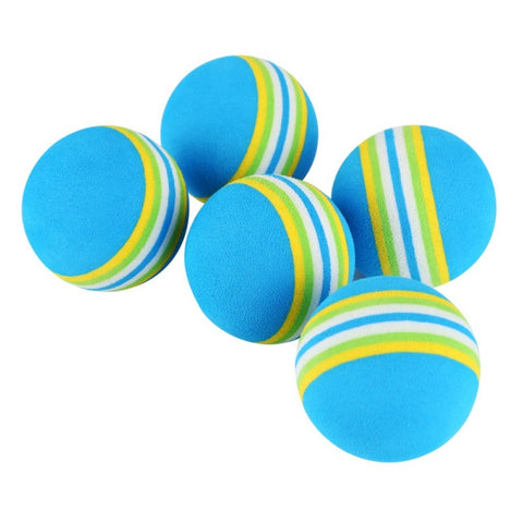 10 PCS Cat Toy Ball Interactive Cat Toys Play Chewing Rattle Scratch EVA Ball Natural Foam Ball Training Pet Supplies