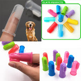 5.5*2.2cm Super Soft Pet Finger Toothbrush Teddy Dog Brush Addition Bad Breath Tartar Teeth Care Dog Cat Cleaning Supplies