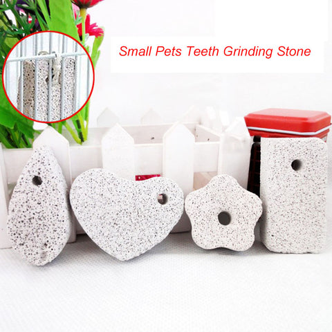 Guinea Pig Hamster Rabbit Teeth Grinding Stone Small Pet Supplies Minerals Molar Stone Chew Toys for Chinchilla Dog Totoro