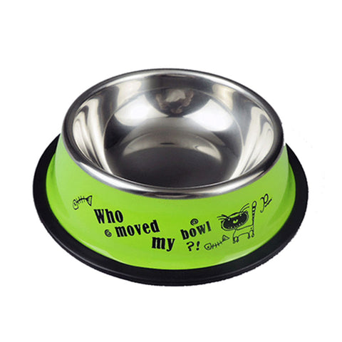 Stainless Steel Pet Bowls for Dog Puppy Cats Food Water Feeder Pets Supplies Feeding Dishes Dogs Bowl Cute Cartoon Pet Bowl
