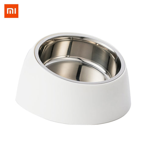 Xiaomi Stainless Steel Pet Dog Bowl Puppy Cats Food Drink Water Tilted Feeder With Base Pets Supplies Non-slip Feeding Dishes