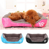Large Square Pet Dog Bed Puppy Cat Cushion House Soft Fleece Warm Kennel Bedding Mat Blanket Dog Bed Cushion Dog Supplies