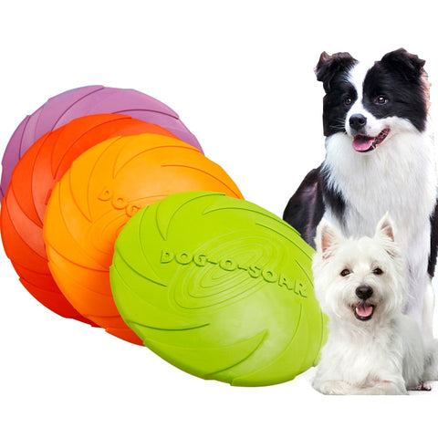 Rubber Dog Frisbie Toys For Small Large Dogs Pitbull Puppy Dog Flying Discs Interactive Toys Dog Training Products Pets Supplies