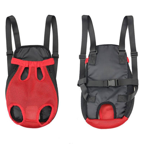 Pet Dog Outdoor Carrier Bag Five Holes Backpack Sling Holder Carrier Front Chest Backpack Mesh Cat Puppy Dog Travel Supplies