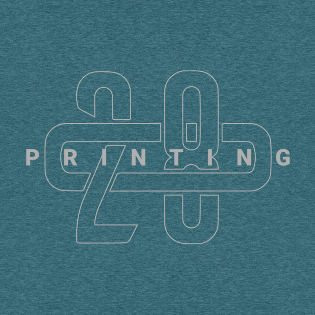 208 Printing Heather Teal Tee