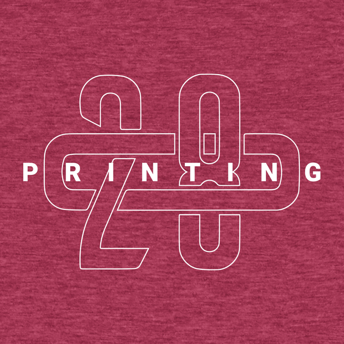 208 Printing Heather Red Tee