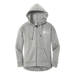 208 Womens Gray Zip Up Hoodie