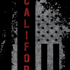 California US Flag Black Tee
