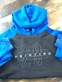 208 Grey and Blue Hoodie