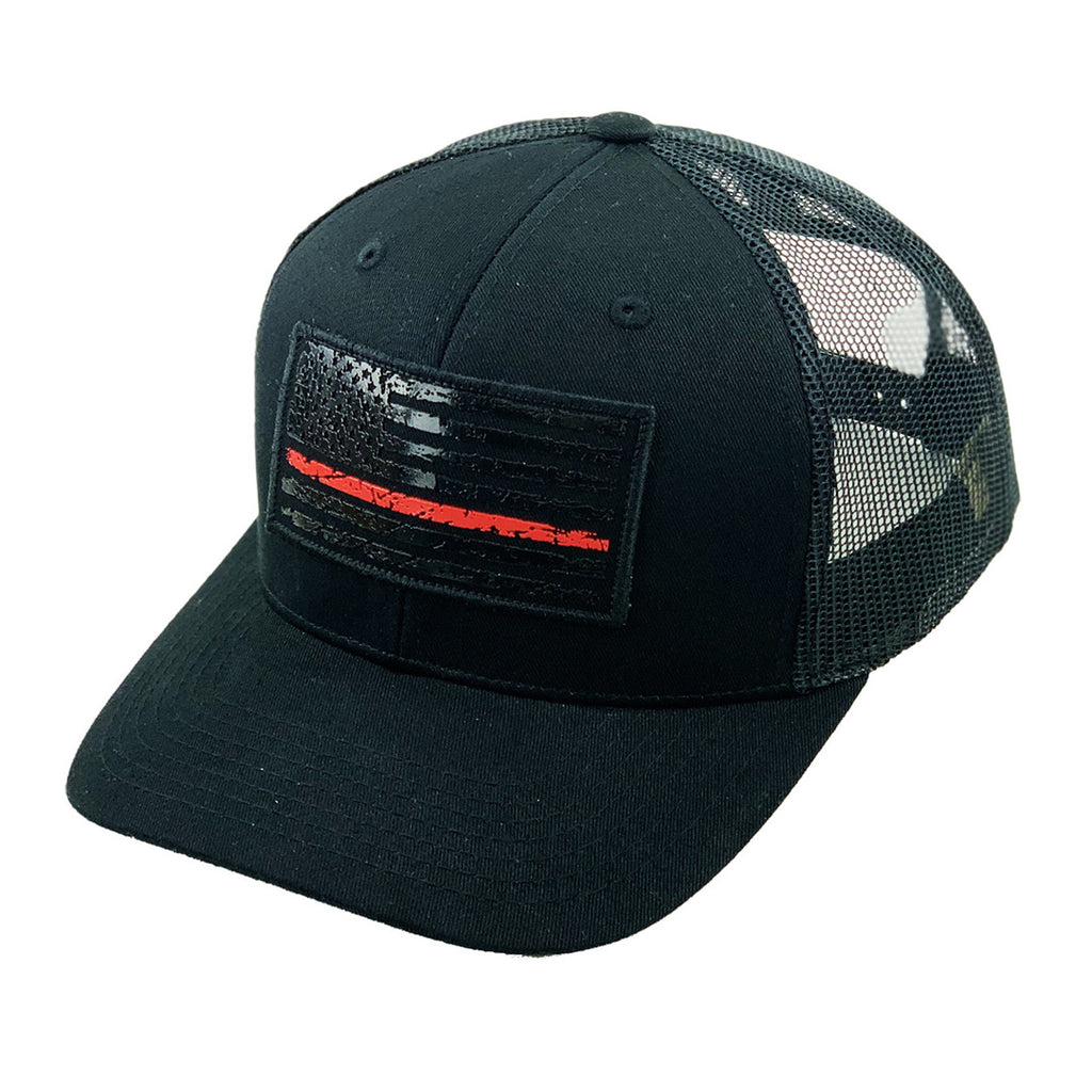Red Stripe Flag Patch Hat