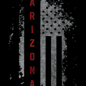 Arizona US Flag Black Tee