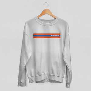 Striped Blue Broncs Sweatshirt