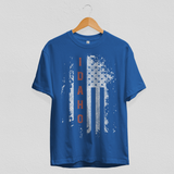 Idaho US Flag Blue Tee