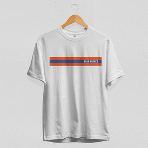 Striped Blue Broncs Tee
