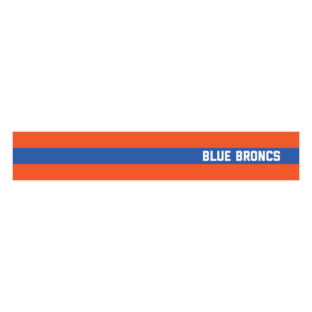 Striped Blue Broncs Hoodie