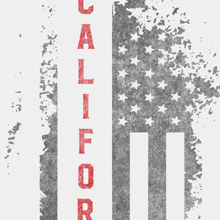 California US Flag White Tee