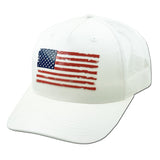 USA Flag White Hat