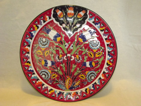 Turkish Plates : painted ceramic plates - pezcame.com