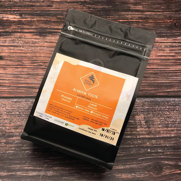 Black Rabbits Coffee - 100% Arabica Ground Coffee 250g กาแฟบด แบล็คแรบบิท อาราบิกา 100% - The Foodworks