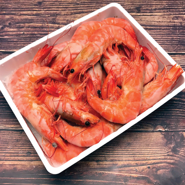 Frozen JUMBO Cooked Red Shrimp กุ้งต้มสุกแช่แข็งไซส์ JUMBO 1kg/pack (14-16pcs/kg) - The Foodworks