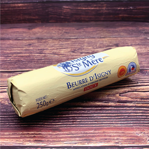 Isigny Ste Mère Unsalted Butter (Rolled) อีซีนี่เนยเชิร์นรสจืด 250g แบบแท่ง - The Foodworks