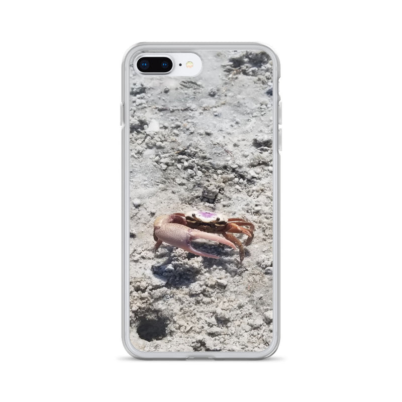 """Monsieur Crab"" iPhone Case-Phone Case-Tropical Scenery-iPhone 7 Plus/8 Plus-Tropical Scenery"