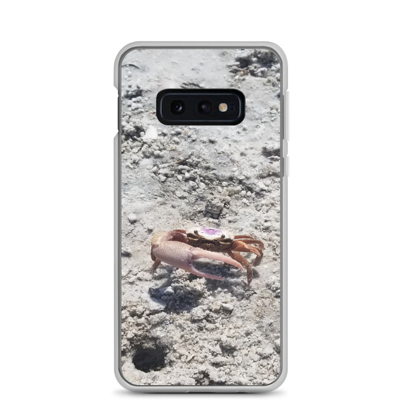 """Monsieur Crab"" Samsung Case-Phone Case-Tropical Scenery-Samsung Galaxy S10e-Tropical Scenery"