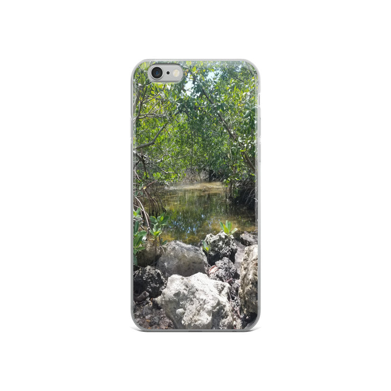 """Creeks"" iPhone Case-Phone Case-Tropical Scenery-iPhone 6/6s-Tropical Scenery"