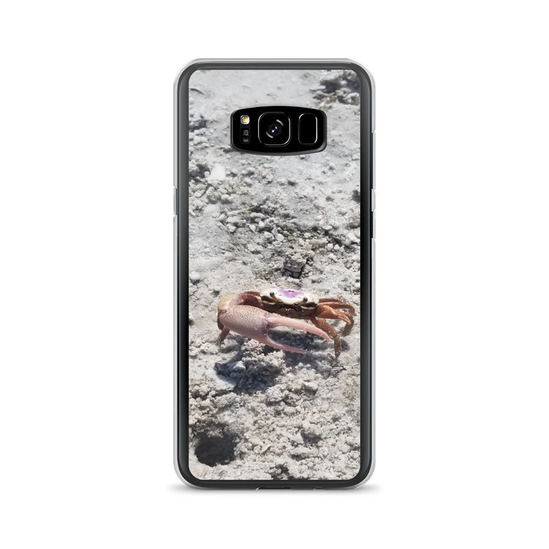 """Monsieur Crab"" Samsung Case-Phone Case-Tropical Scenery-Samsung Galaxy S8+-Tropical Scenery"