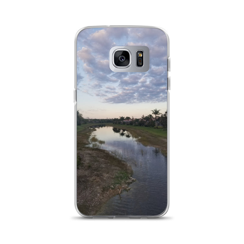 """River Sky"" Samsung Case-Phone Case-Tropical Scenery-Samsung Galaxy S7 Edge-Tropical Scenery"