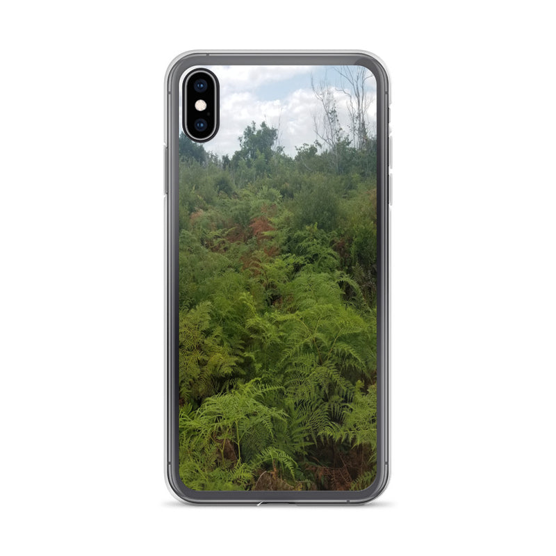 """Green on the Scene"" iPhone Case-Phone Case-Tropical Scenery-iPhone XS Max-Tropical Scenery"