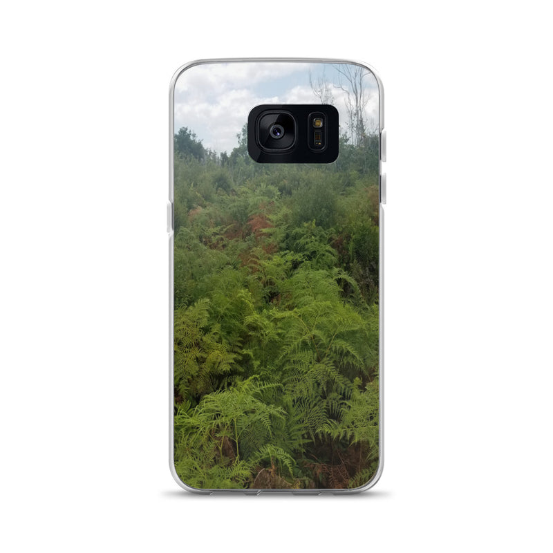 """Green on the Scene"" Samsung Phone Case-Phone Case-Tropical Scenery-Samsung Galaxy S7-Tropical Scenery"