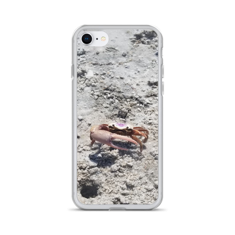 """Monsieur Crab"" iPhone Case-Phone Case-Tropical Scenery-iPhone 7/8-Tropical Scenery"