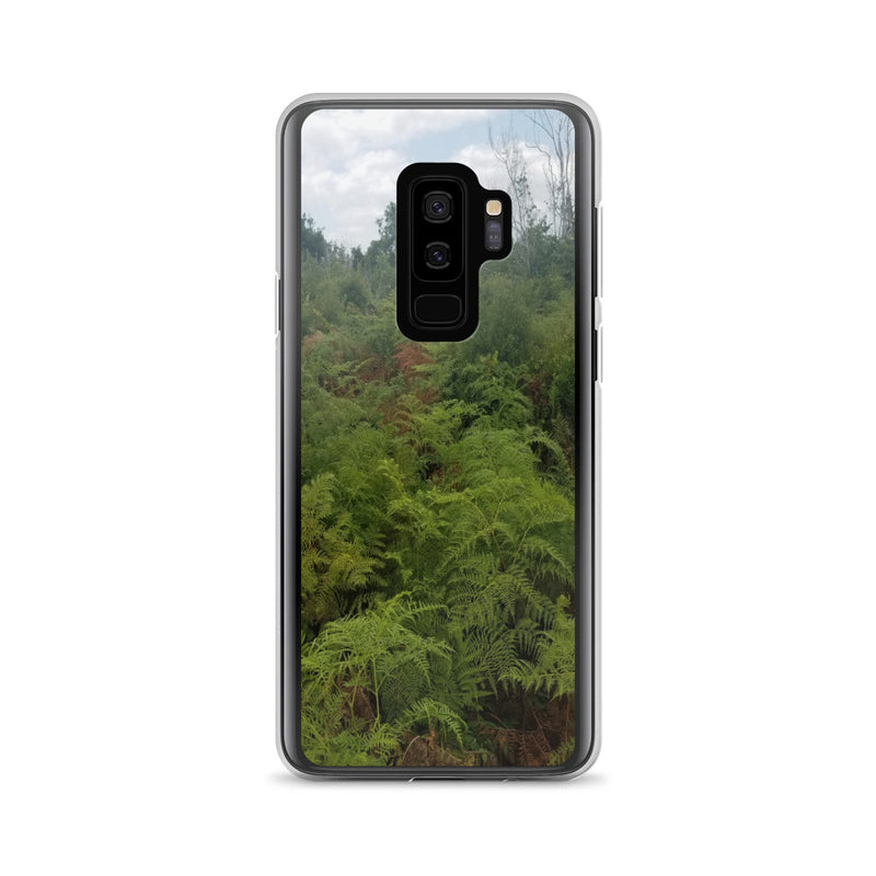 """Green on the Scene"" Samsung Phone Case-Phone Case-Tropical Scenery-Samsung Galaxy S9+-Tropical Scenery"