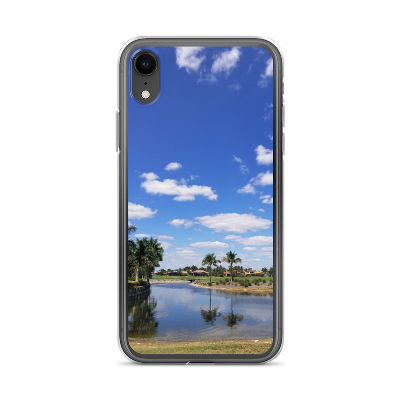 """A Day on the Course"" iPhone Case-Phone Case-Tropical Scenery-iPhone XR-Tropical Scenery"