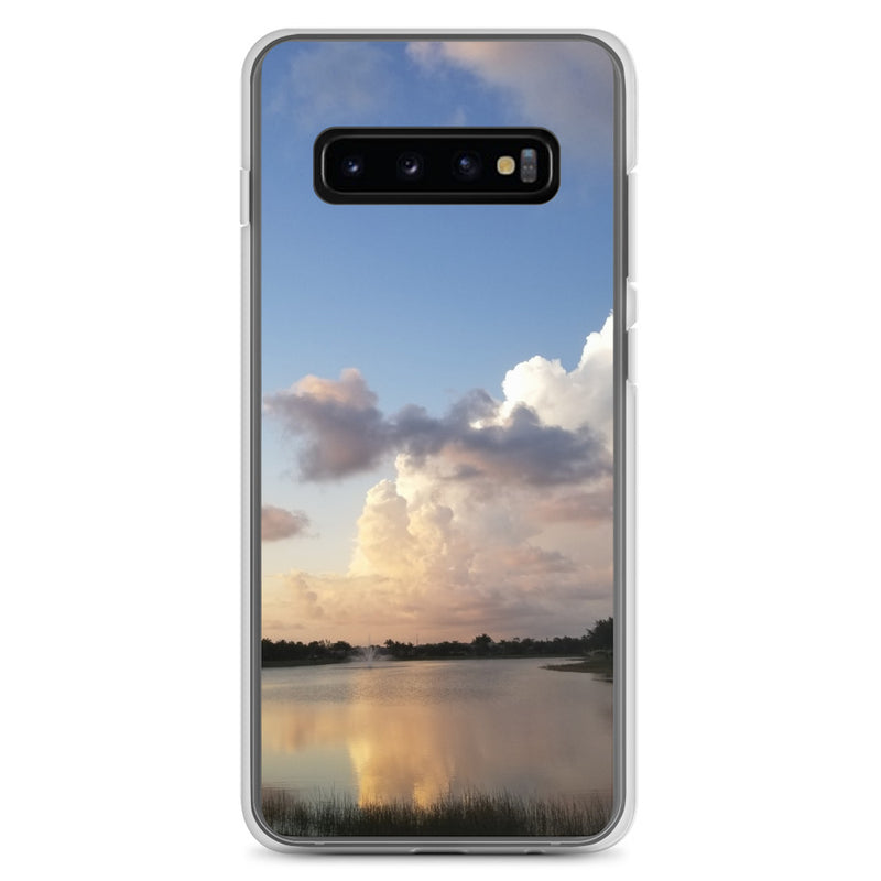 """Golden Haze"" Samsung Phone Case-Phone Case-Tropical Scenery-Samsung Galaxy S10+-Tropical Scenery"