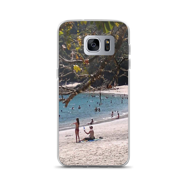 """La Playa"" Samsung Phone Case-Phone Case-Tropical Scenery-Samsung Galaxy S7 Edge-Tropical Scenery"