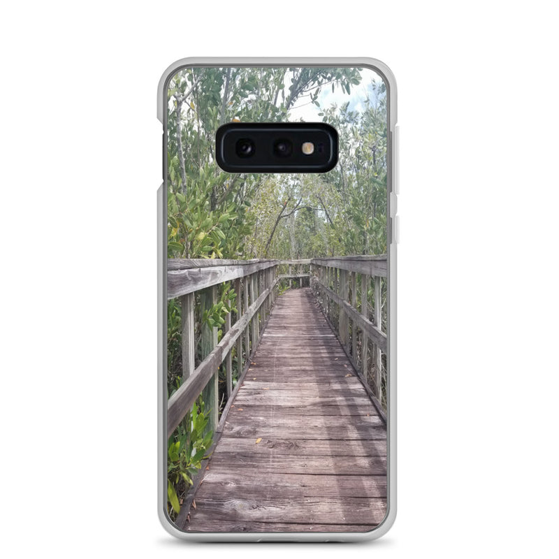 """Out Back"" Samsung Case-Phone Case-Tropical Scenery-Samsung Galaxy S10e-Tropical Scenery"