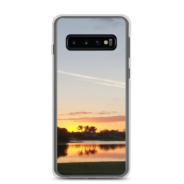 """Sundown"" Samsung Case-Phone Case-Tropical Scenery-Samsung Galaxy S10-Tropical Scenery"