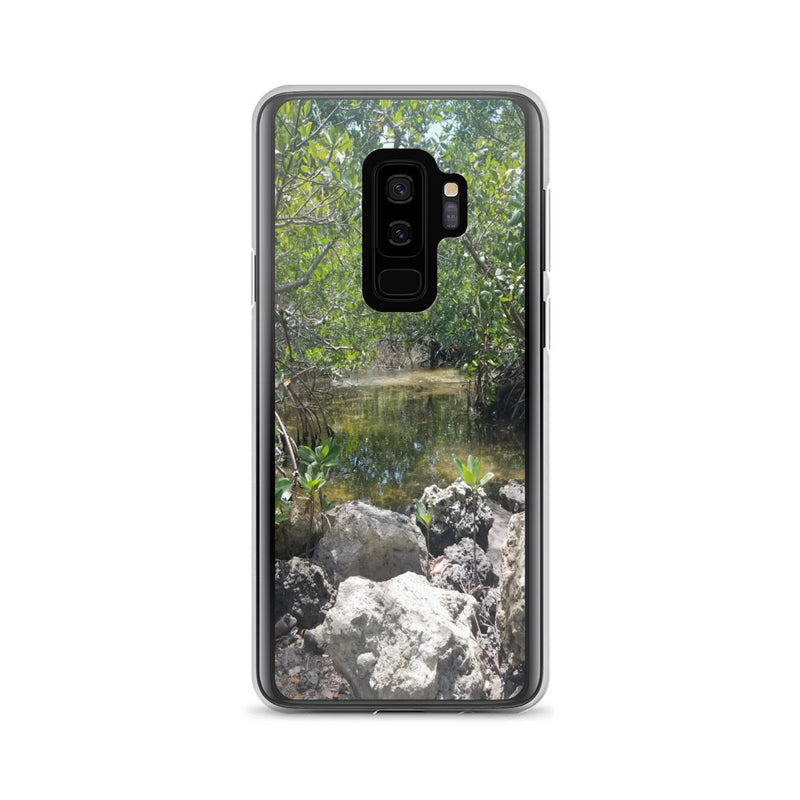 """Creeks"" Samsung Phone Case-Phone Case-Tropical Scenery-Samsung Galaxy S9+-Tropical Scenery"