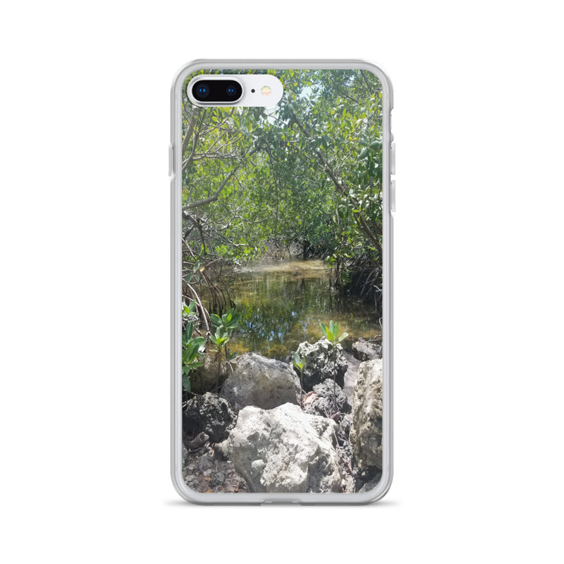 """Creeks"" iPhone Case-Phone Case-Tropical Scenery-iPhone 7 Plus/8 Plus-Tropical Scenery"