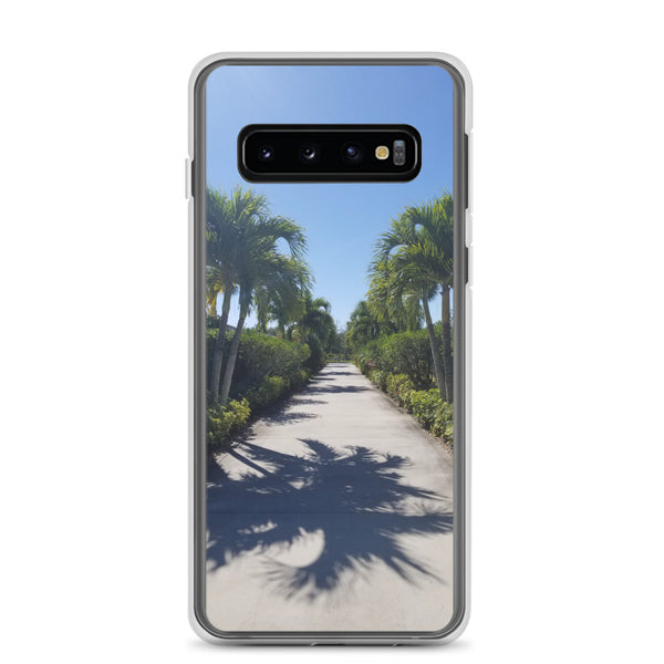 """Path to Paradise"" Samsung Case-Phone Case-Tropical Scenery-Samsung Galaxy S10-Tropical Scenery"