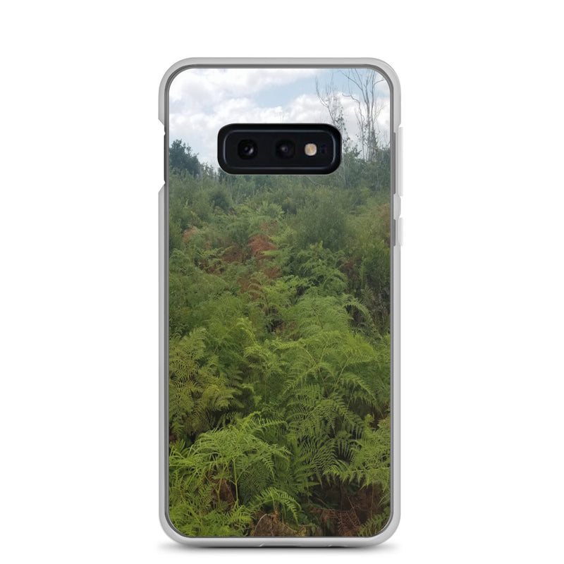 """Green on the Scene"" Samsung Phone Case-Phone Case-Tropical Scenery-Samsung Galaxy S10e-Tropical Scenery"