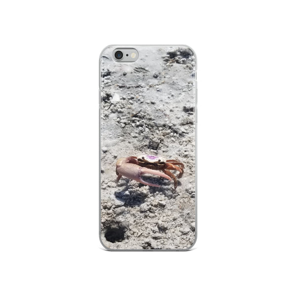 """Monsieur Crab"" iPhone Case-Phone Case-Tropical Scenery-iPhone 6/6s-Tropical Scenery"