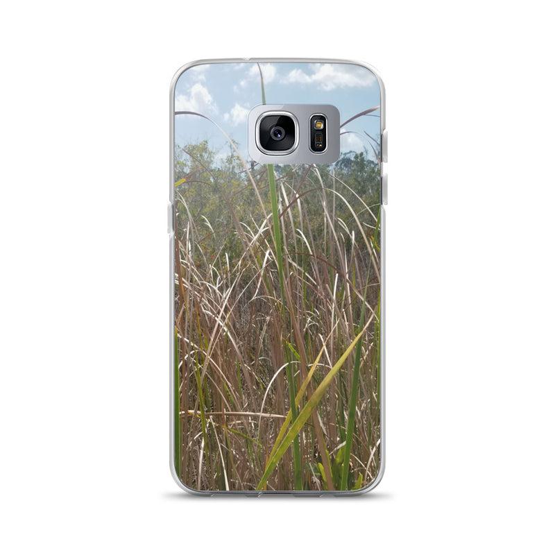 """Grass"" Samsung Phone Case-Phone Case-Tropical Scenery-Samsung Galaxy S7 Edge-Tropical Scenery"