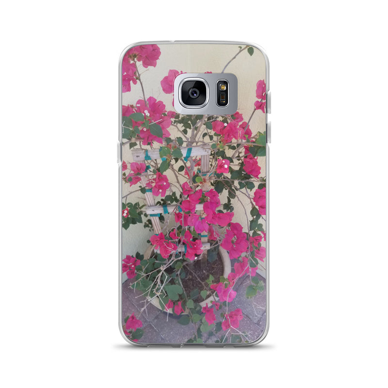 """Pretty in Pink"" Samsung Case-Phone Case-Tropical Scenery-Samsung Galaxy S7 Edge-Tropical Scenery"