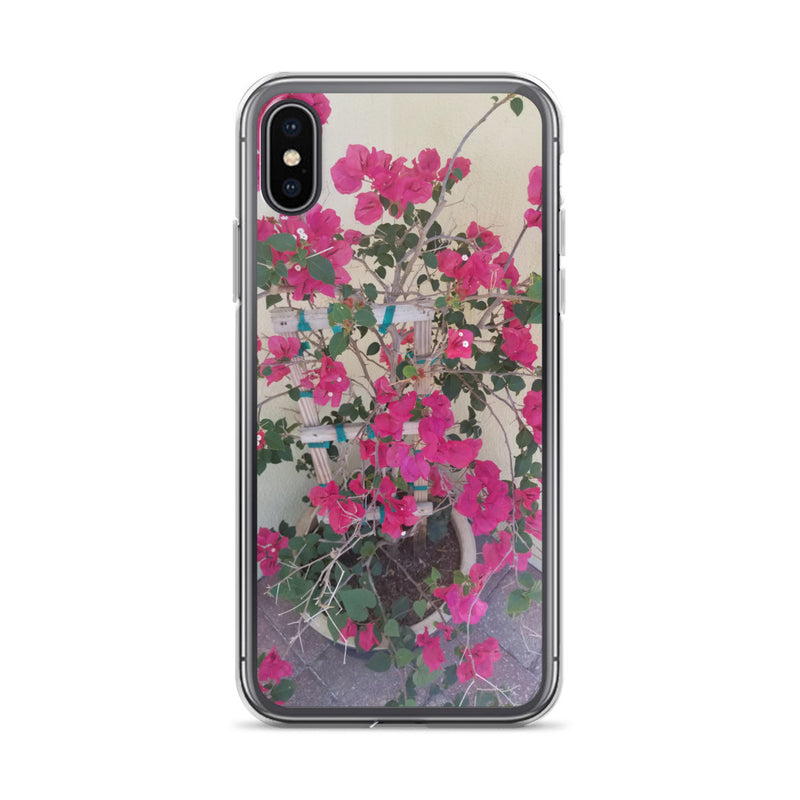 """Pretty in Pink"" iPhone Case-Phone Case-Tropical Scenery-iPhone X/XS-Tropical Scenery"